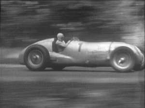 Classic cars: Rudolf Hasse in the Auto Union - 1937 Donington Grand Prix.