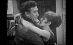 Ooh err missus: Frankie Howerd embraced by a vampish Yootha Joyce