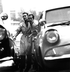 Steed and Keel in a car park